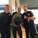 Traveling NY Motorcyclist Helmet Stolen and Recovered Quickly by APD